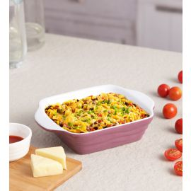 Purple Ceramix Square Dish 350 Ml