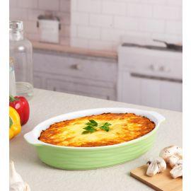 Green Ceramix Oval Dish 1300 Ml