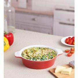 Red Ceramix Round Dish 700 Ml