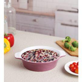 Purple Ceramix Round Dish 700 Ml