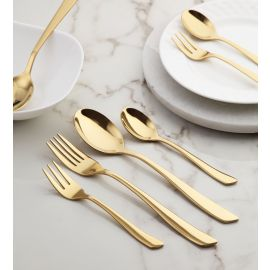 Grace 24 Pc SS Cutlery Set Mirror Gold