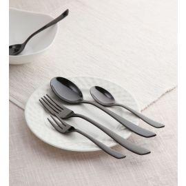 Grace 24 Pc  SS Cutlery Set Mirror Black
