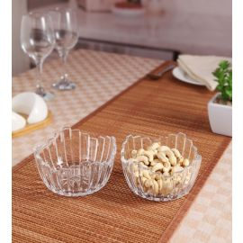 Leaf Glass 2Pc Set Bowl
