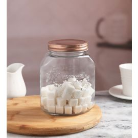 Panelled Square Jar 900Ml