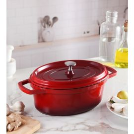 Pinnacle Oval Casserole With Aluminium Die Cast Lid 26 Cm