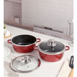 Pinnacle 2 Pc Round Casserole Set with G.Lid 20 Cm